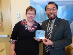 Wayne Cao, MLA, Calgary Fort and Dr. Sarah Eaton