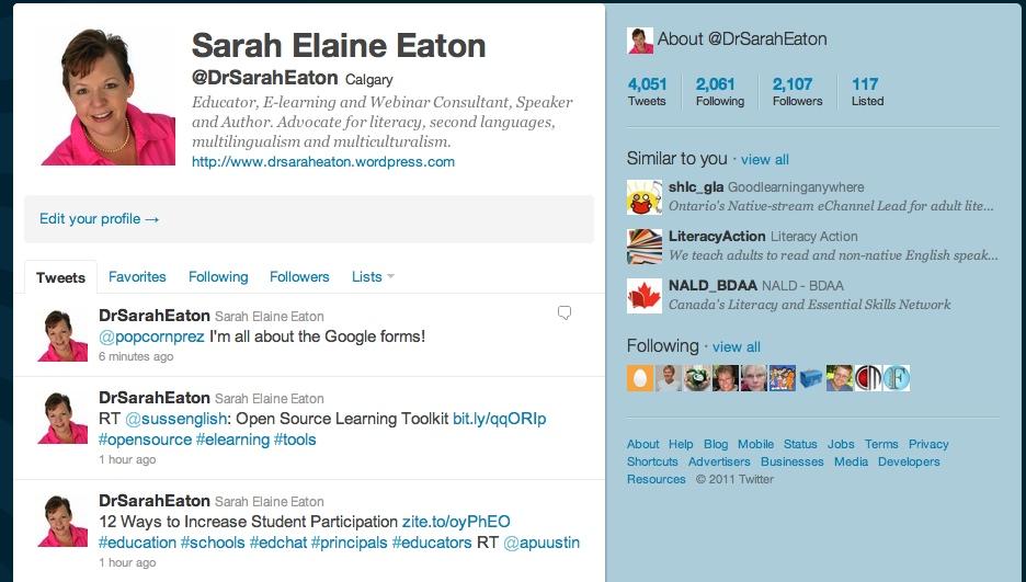 Sarah Eaton Twitter
