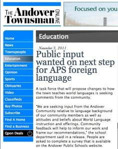 Andover public schools seek public input