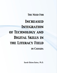 Need for Increased Tech in Literacy by Sarah Elaine Eaton, Calgary, Canada