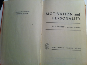 Maslow Motivation and Personality (1954)