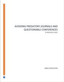 Cover art - Avoiding Predatory Journals and Questionable Conferences