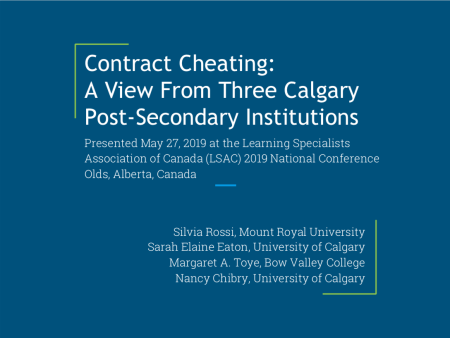LSAC - (Cover slide) Rossi, Eaton, Toye & Chibry