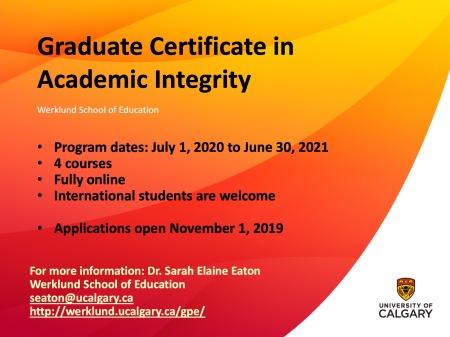 MEd Cert - Academic Integrity