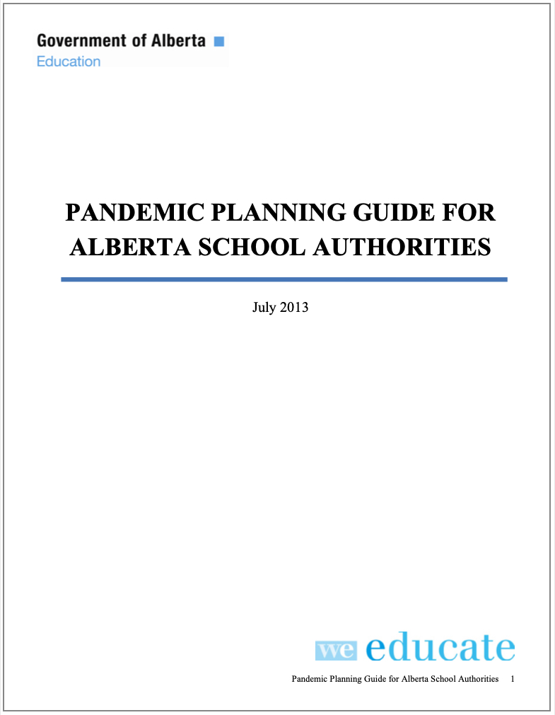 Alberta Education Pandemic Planning Guide