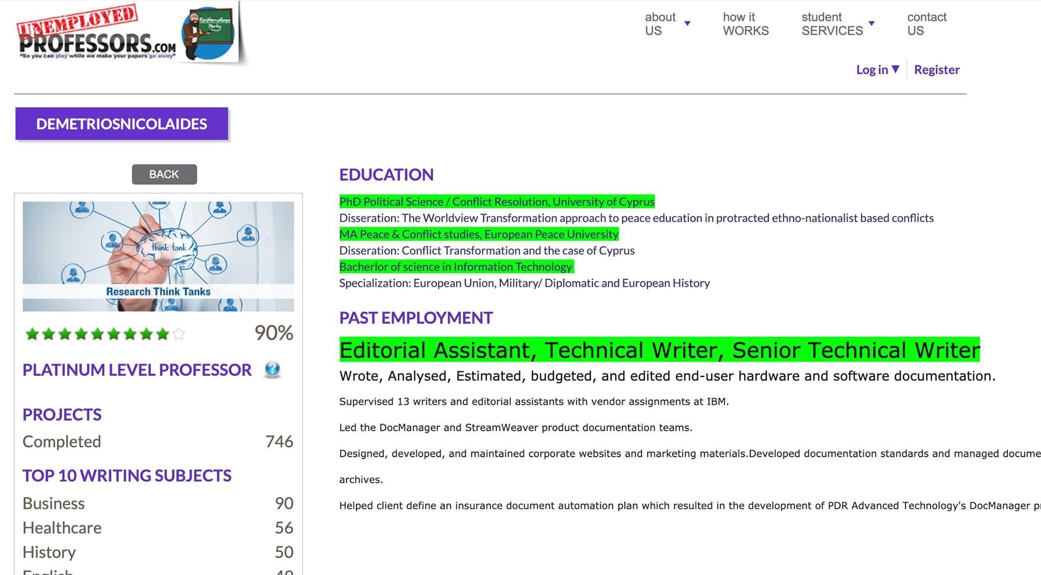 "User Profile ""DemetriosNicolaides"" Screenshot date: 14 Aug 2020"