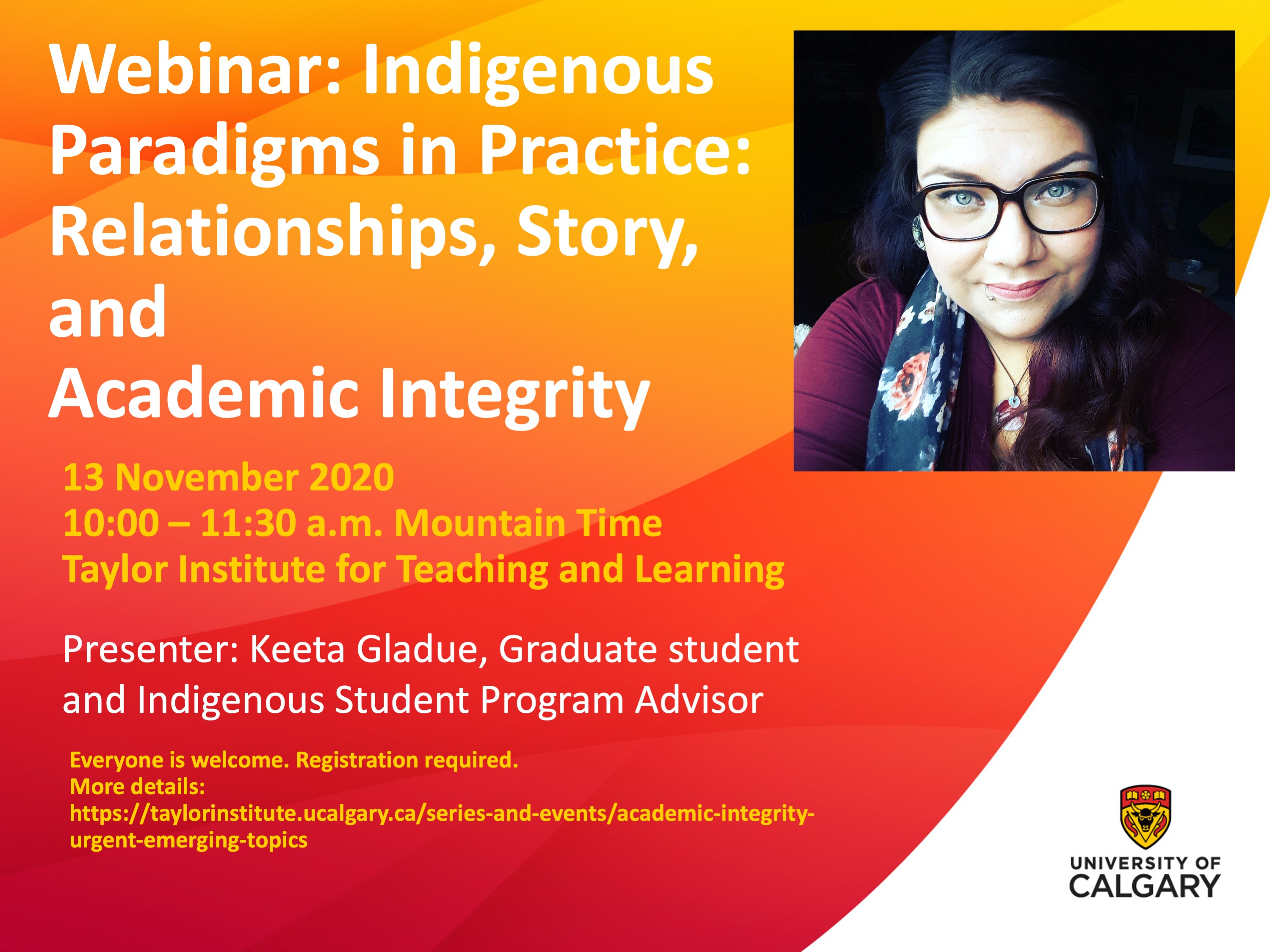 Indigenous Academic Integrity Webinar - Keeta Gladue