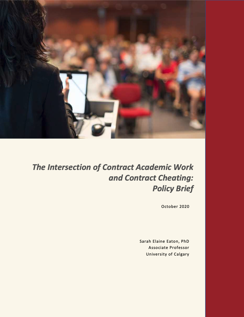Cover - Contract academic work contract cheating